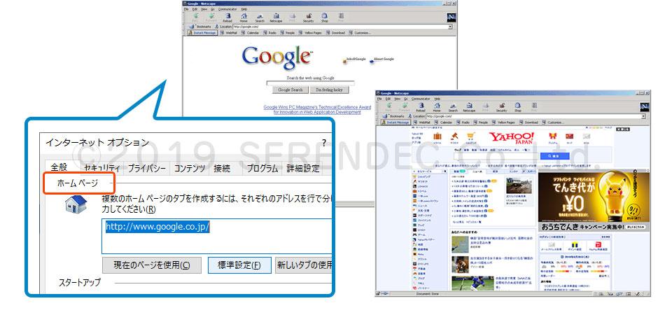 インターネットブラウザとホームページ
